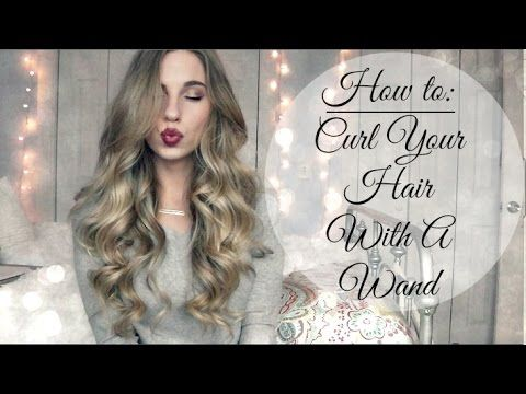How to curl your hair with a wand for beautiful soft curls.