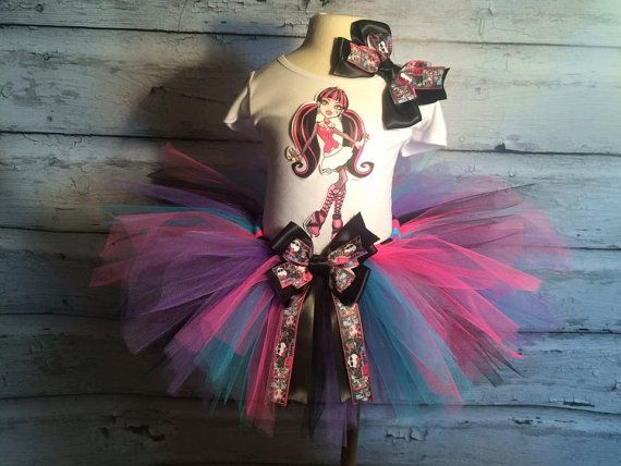 Monster High Birthday Tutu Outfit by TulledDreamers on Etsy