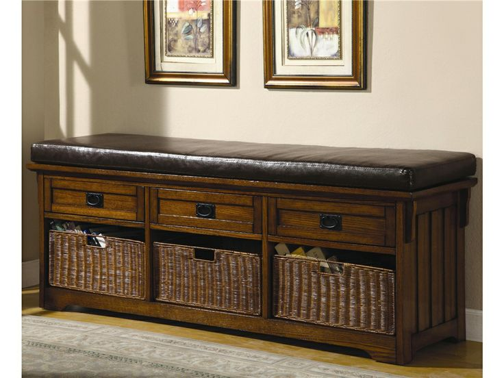 Elegant Entry Bench with Drawer