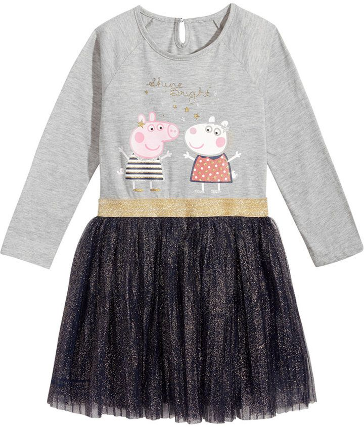 Peppa Pig Glitter-Pleat Dress, Toddler Girls (2T-5T)