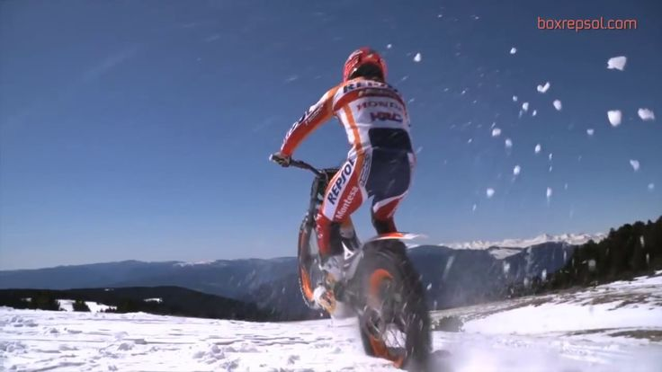 Toni Bou in the snow  More spectacular than ever