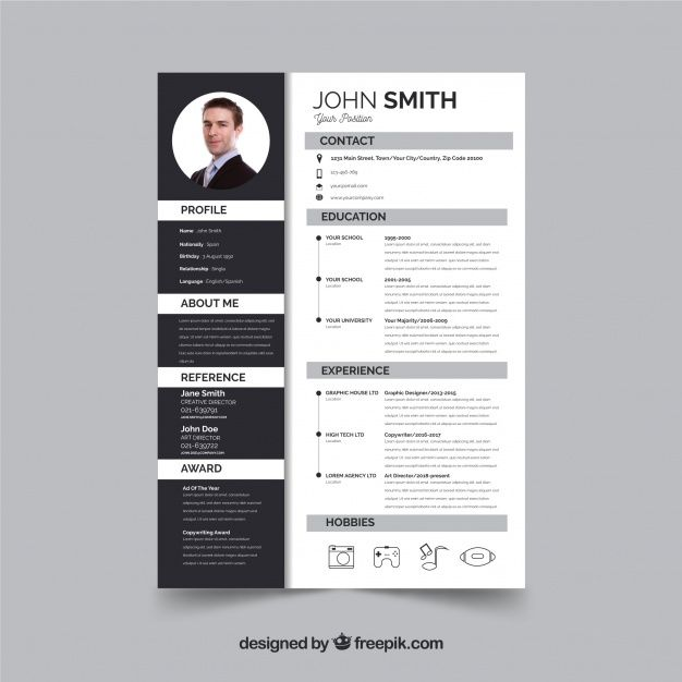 Download Modern Curriculum Template With Flat Design For Free Curriculum Template Curriculum Vitae Template Marketing Words