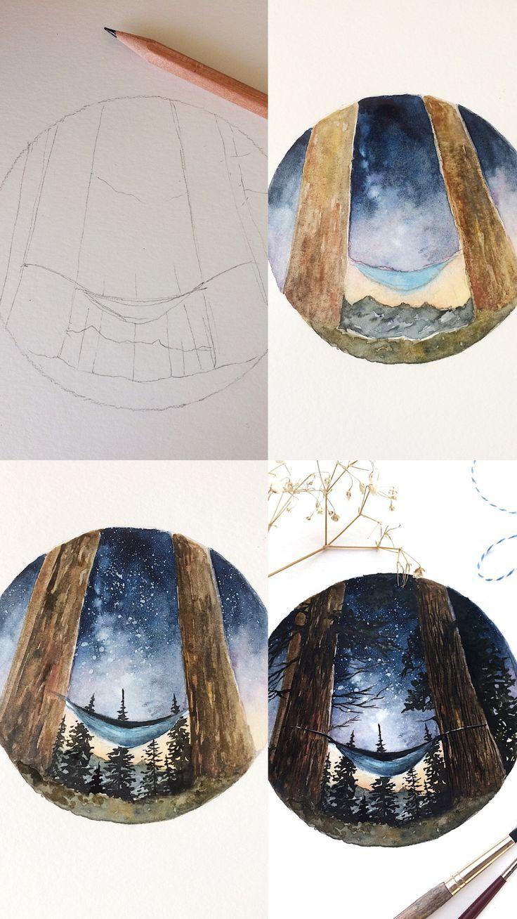 (Rosie Shriver.sketchbook) Prozessfotos zur Aquarellmalerei. #watercolor #wat …  #aquarellmalerei #paintingartideas