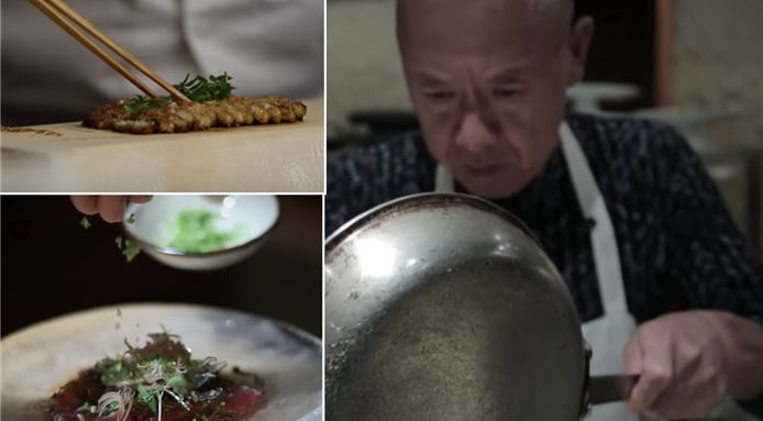Watch the three star Michelin sushi master, Masayoshi Takayama, as he cooks up some of his famous cuisine.