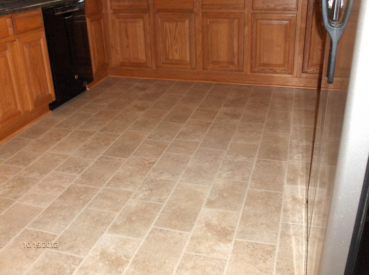 My New Kitchen Floor Pergo It Looks And Feels Like Tile