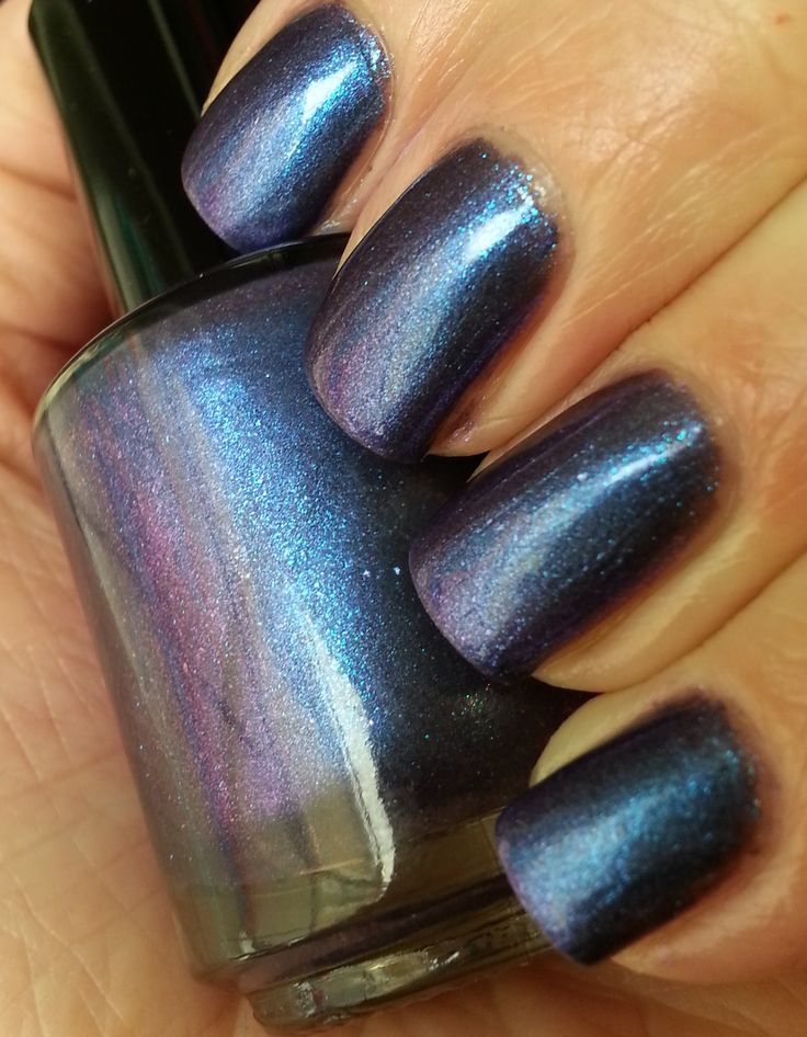 Espionage- a deep violet duochrome flashing blue, blue-green, and pink. Absolutely gorgeous!