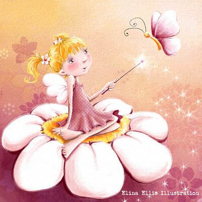 Elina Ellis Illustration: Flower Fairy http://elinaellis.blogspot.hu/2012/01/flower-fairy.html