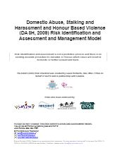 Domestic Abuse, Stalking and Harassment and Honour Based Violence Risk Identification and Assessment and Management Model (DASH) – Free Social Work Tools and Resources: SocialWorkersToolbox.com