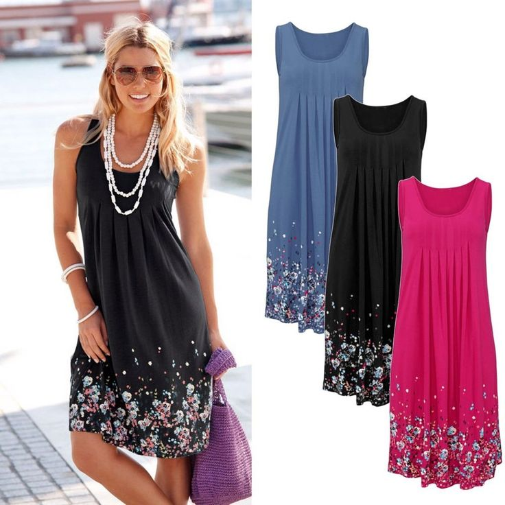 NEW Women Summer Casual Sleeveless Evening Party Cocktail Dress Short Mini Dress | Clothing, Shoes & Accessories, Women's Clothing, Dresses | eBay!