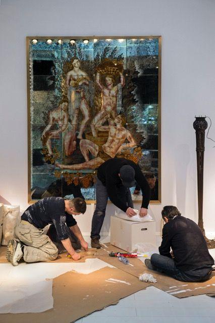 Work in progress... The decorators are turning Tour & Taxis into a magical fair ground for the BRAFA Art Fair (23 - 31 January 2016). Photo Emmanuel Crooÿ