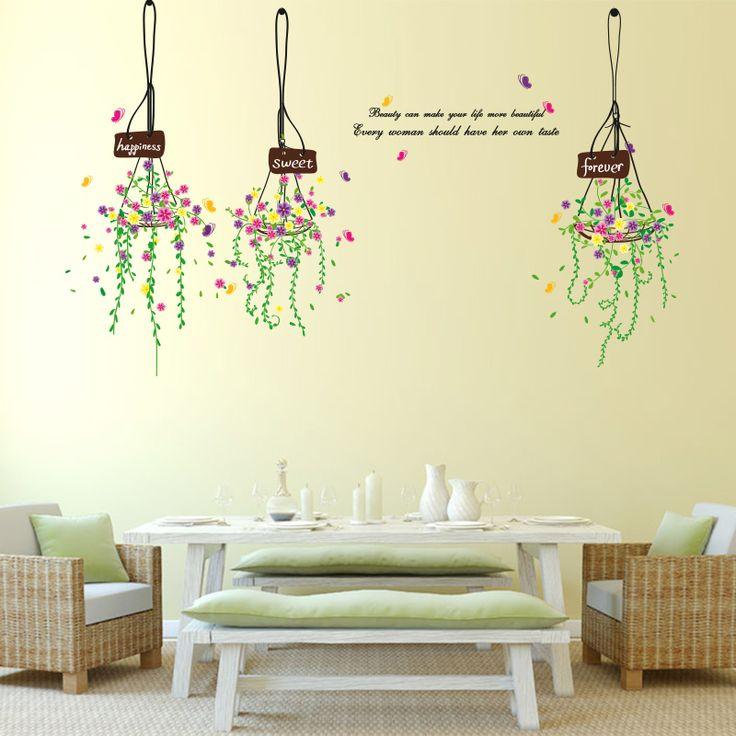 43 best Plant Wall Stickers images on Pinterest | Art for living ...