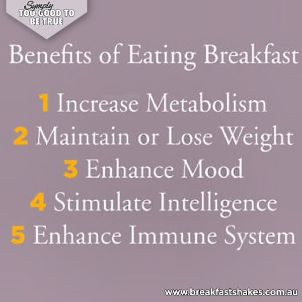 I cannot stress enough how important breakfast is! Always eat breakfast as it will fuel you for the day ahead!