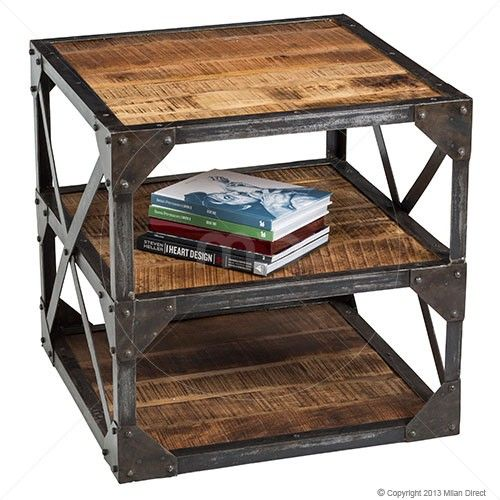 Industrial End Table - Iron - 60cm