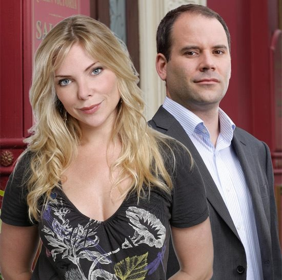 Ronnie Mitchell and Joel Reynolds (Danielle's natural parents), played by Samantha Womack and Cavan Clerkin.