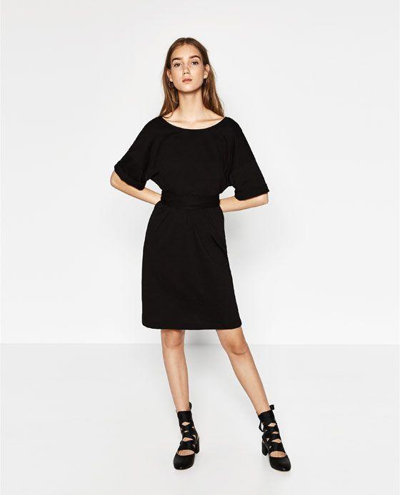 Image 1 of DRESS WITH TIE-WAIST from Zara