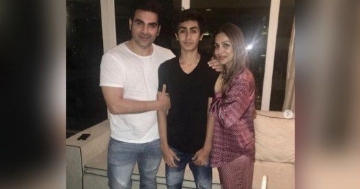 Ex-couple Malaika Arora Khan and Arbaaz Khan celebrates son Arhaans birthday together!