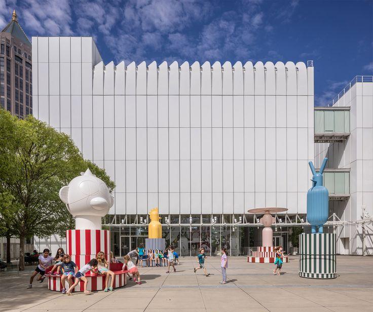 Jaime Hayon installs spinning Merry Go Zoo totems at Atlanta art museum