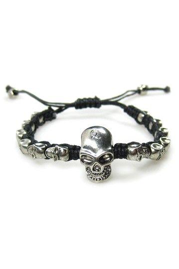 Many Skulls Bracelet skull bracelet, mens skull bracelet, skull jewelry
