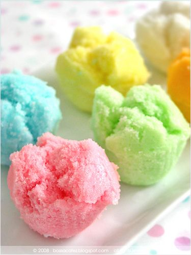 mini steamed cakes - I remember these from when I was little