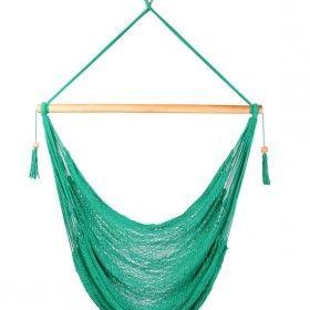 Green Hanging Hammock Swing Chair.