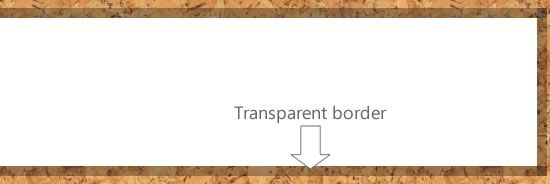 Transparent borders withCSS3