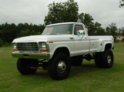 1979 f350 ford 4x4 for sale 1979 ford f350 4x4 dually pick up truck white gray make up. Black Bedroom Furniture Sets. Home Design Ideas