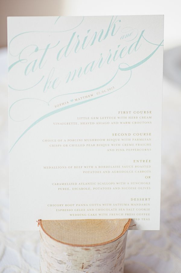Id e pour un menu original noces de cana wedding for Idee menu original