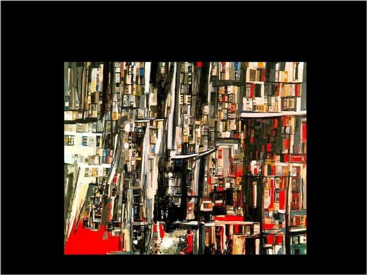 """Biblioteca"" (""Library"") , Maria Helena Vieira Da Silva (1908- 1992)"