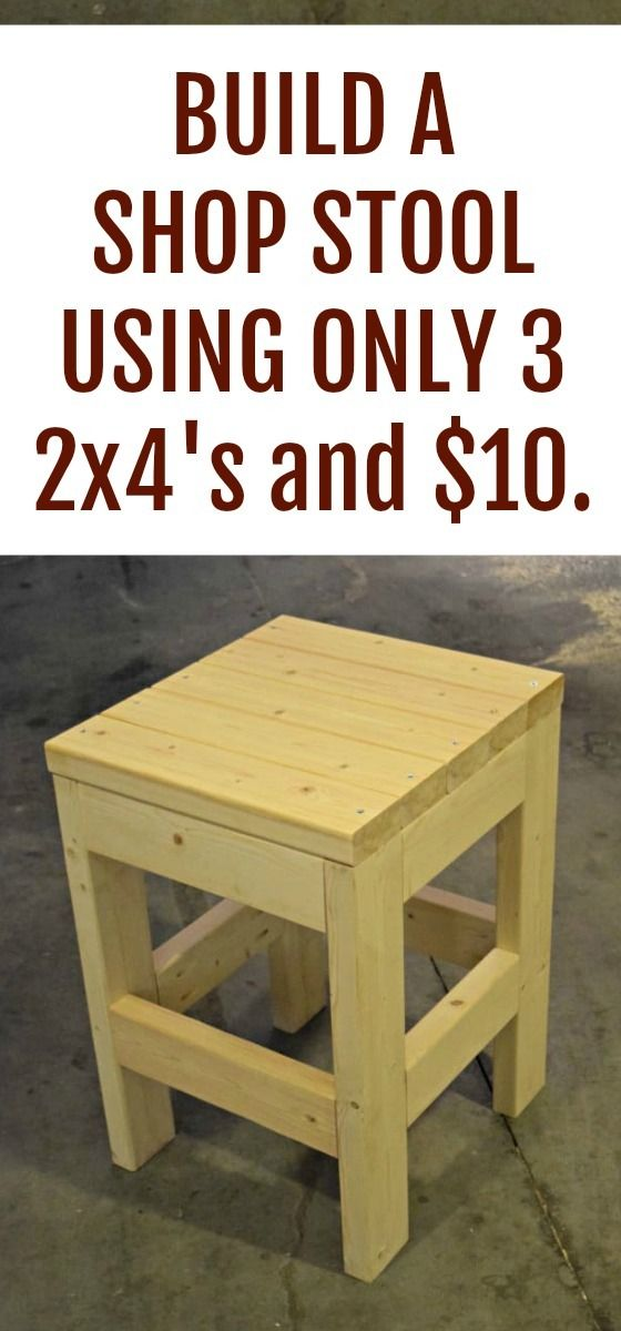 How to build a simple shop stool using 3 2×4's and $10.