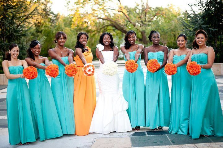 turquoise bridesmaid dresses | Wedding ideas ♥