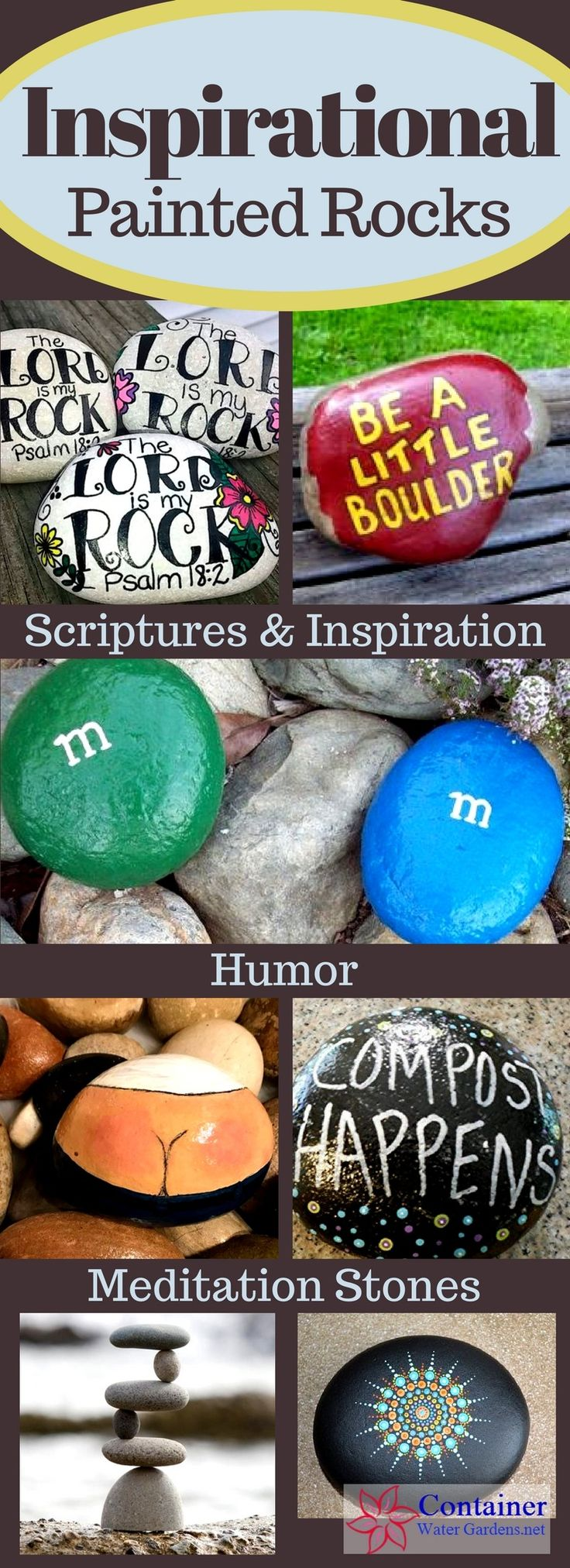 Are you looking for a fun project that adds a touch of whimsy or inspiration to the garden, or maybe just a weekend diversion for the kids? Painted rocks might just be the idea you're looking for. They come in so many variations from funny rocks and cartoon characters to meditative stones and scripture quotes… …