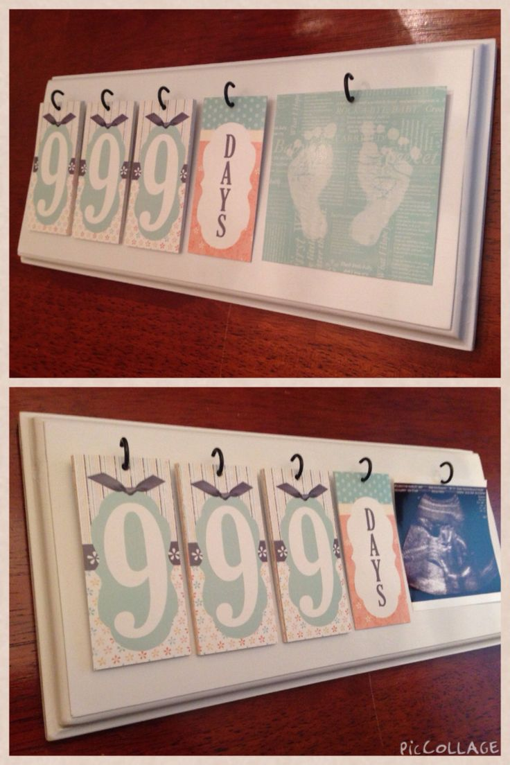 Pregnancy Countdown Wall Hang by NellieRoseDesigns on Etsy