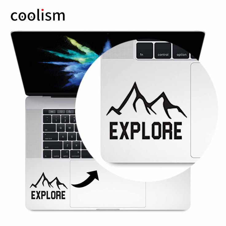 Explore Quote Vinyl Laptop Decal Trackpad Sticker for 11 12 13 15 inch Macbook Skin Pro Air Retina Mac Notebook Touchpad Decal #Affiliate