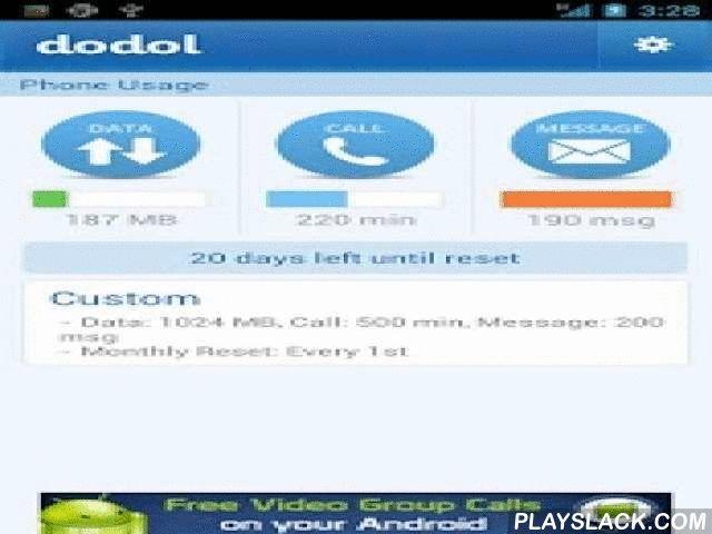 Dodol Phone (data, Call, Text)  Android App - playslack.com ,  dodol telefoon calculator hoeveel 3G data,telefoon en berichten verbruikd.leveranciers werkelijke dagelijks gebruik journaal en in stellen persoonlijke limiet* meer dan 9 miljoen keer geladen* nieuw pagina ontwerp voor android toestellen* begin scherm toepassing* grafische berichtvoering* ondersteund zeer fijne scherpte beeldscherm,4G LTE, Jelly Bean & ICS