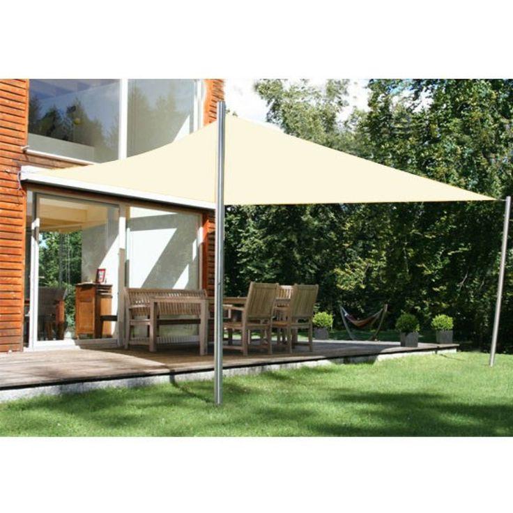 Outsunny Sonnensegel Sonnenschutz - Maße: 4x6m   Farbe: Creme   Stoffe: 185g/m² HDPE