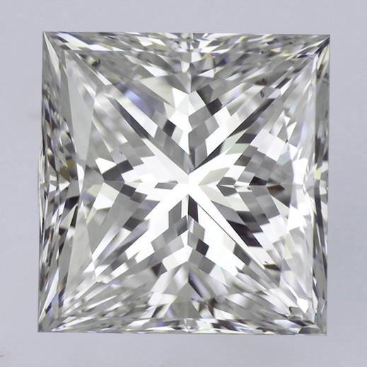 3.85 Carat E VS2 Princess Cut Diamond