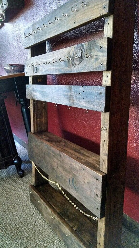Rustic Jewelry Display by moakleydesigns on Etsy