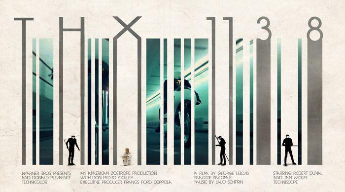 Alternative movie poster for THX 1138 by Benjamin Parslow