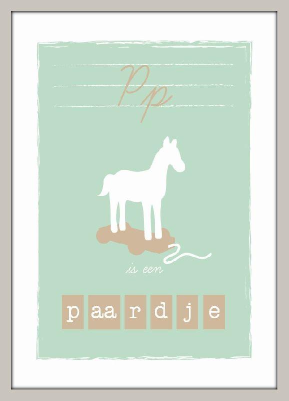 Poster P is een paardje