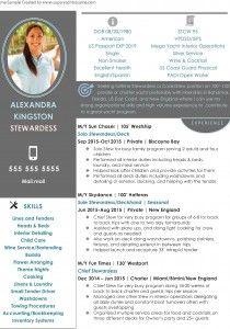 Stewardess Resume Sample 1 Stewardess Yacht Flight