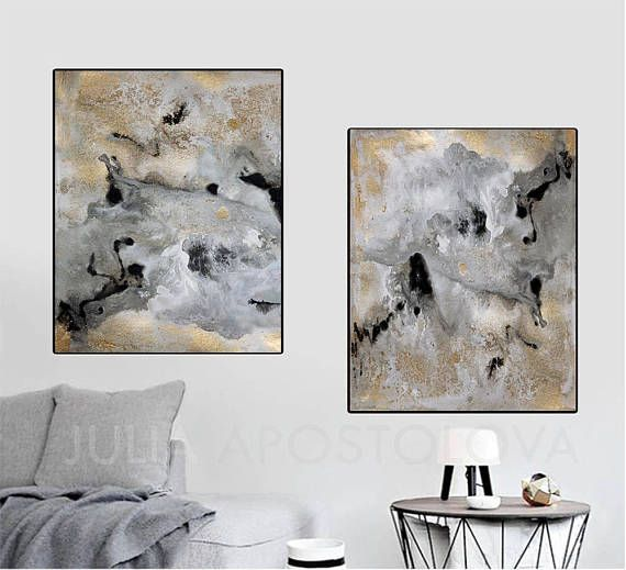 Rectangle Print Option of Original SOLD Abstract Diptych Painting: Milky Way 1 & 2, by Fine Artist Julia Apostolova ▼BUY TWO PRINTS, PAY ONLY ONE SHIPPING COST!!!▼ Available sizes are shown in the SELECT A SIZE drop down menu above the ADD TO CART button. ♥ PRINT SIZES: Sizes in
