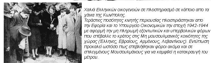 Ο τουρκικός φόρος μεγάλης ακίνητης περιουσίας του 1942 (Varlık Vergisi) και η Ελληνική μειονότητα της Κωνσταντινούπολης