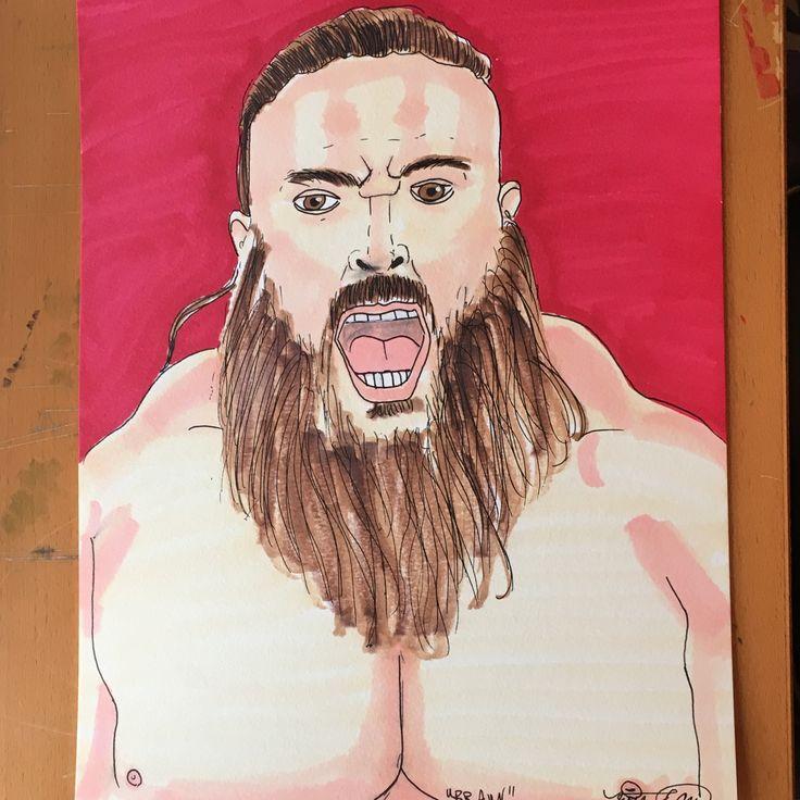 Braun Strowman #wwe #wwf #wcw #wrestling #mcm #monday #mancrushmonday #beast @braunstrowman #photooftheday #pictureoftheday #picoftheday #drawing #drawingoftheday #illustration #grimcartoons #admarkers #art
