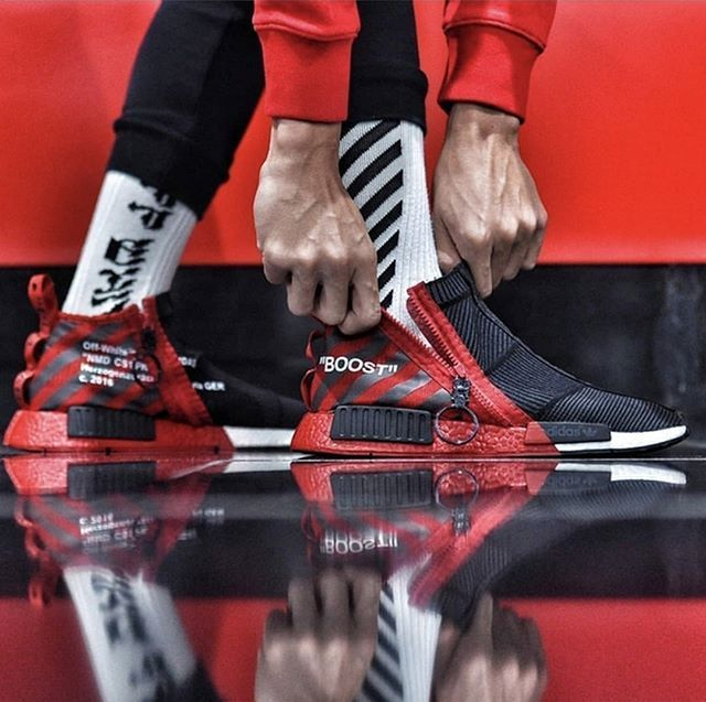 Off-White x NMD. Would you rock?!  : by Edmond Looi ✒ #99kicksde for shoutout…