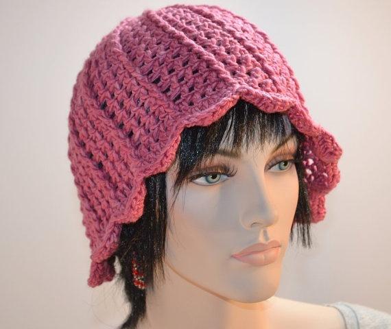 Crochet Rose Hat Natural Fiber Hand Dyed Silk Merino by KnotWyrd, $50.00: Rose Hats, Crochet Roses