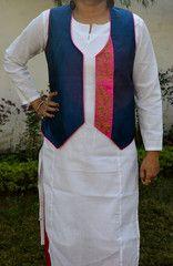 Deep Blue with Pink Munga Jacket