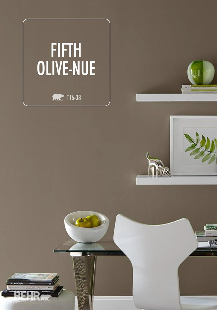Change up your work space for a boost in creativity! Fifth Olive-nue from the 2016 BEHR Color Trends can help bring that sophisticated yet warm feel to your office, while still keeping the modern inspiration you love.