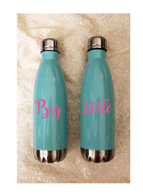 Big Little Water bottles  Metal Water Bottle  17oz  Fitness
