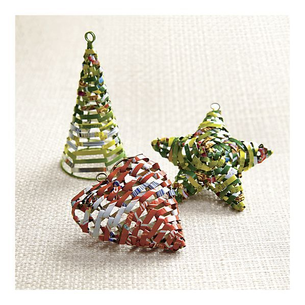56 best images about woven ornaments on pinterest paper Christmas tree ideas using recycled materials