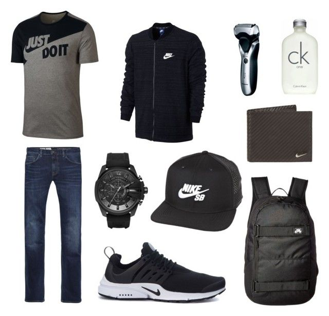 """Nike"" by ricardo-rodriguez-hernandez on Polyvore featuring NIKE, Tommy Hilfiger, Diesel, Calvin Klein, Panasonic, men's fashion y menswear"